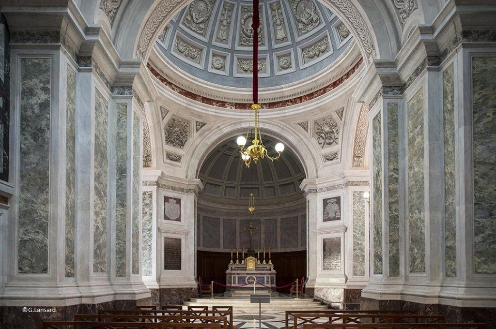 France, Corse (21) Ajaccio, dans le palais Fesch musée des beaux arts, la chapelle palatine ou imperiale